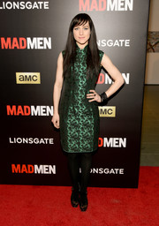 Lena Hall opted for an emerald-green cheongsam when she attended the 'Mad Men' special screening.
