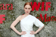 Madelaine Petsch One-Shoulder Top