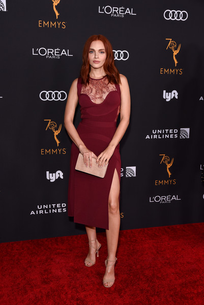 Madeline Brewer Leather Clutch [red carpet,clothing,carpet,dress,cocktail dress,premiere,flooring,fashion,event,little black dress,arrivals,performers,performers - arrivals,madeline brewer,wallis annenberg center for the performing arts,beverly hills,california,television academy honors emmy]