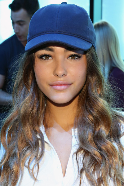 Madison Beer Plain Baseball Cap [hair,clothing,hat,hairstyle,cap,lip,beauty,long hair,fashion,headgear,madison beer,lacoste - front row,new york city,spring studios,new york fashion week,fashion show,lacoste spring 2016]