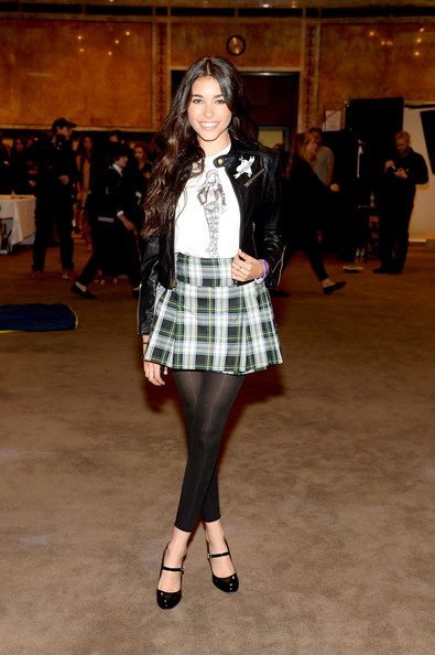 Madison Beer Leggings [clothing,tartan,plaid,fashion model,fashion,pattern,fashion show,design,tights,textile,shoe,ralph lauren fall 14 childrens fashion show in support of literacy,madison beer,tartan,fashion,haute couture,coat,clothing,ralph lauren fall 14 childrens fashion show in support of literacy,fashion show,fashion show,fashion,paris fashion week,ralph lauren corporation,runway,tartan,shoe,haute couture,coat]