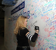 Madonna arrived at the Facebook offices in NYC with her all-black ensemble accessorized with bracelets.