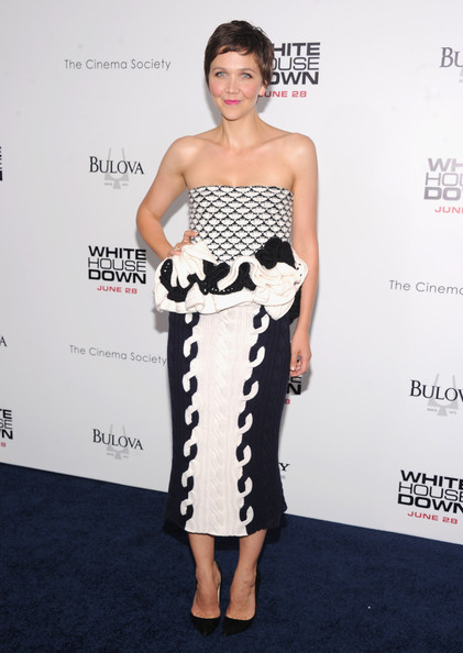 Maggie Gyllenhaal Strapless Dress