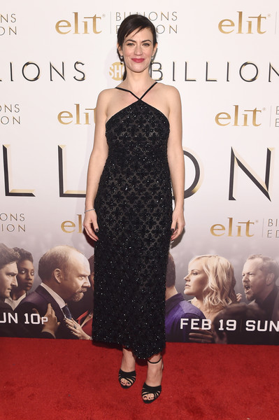 Maggie Siff Halter Dress