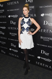 Ivanka Trump made a stylish appearance at the 'Serena' screening in a sleeveless floral mini dress.