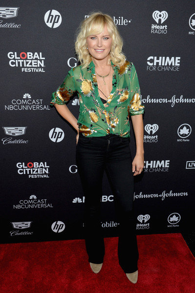 Malin Akerman Print Blouse