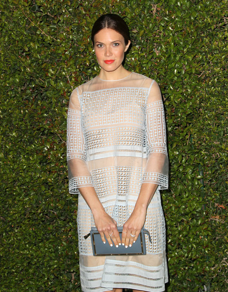 Mandy Moore Leather Clutch