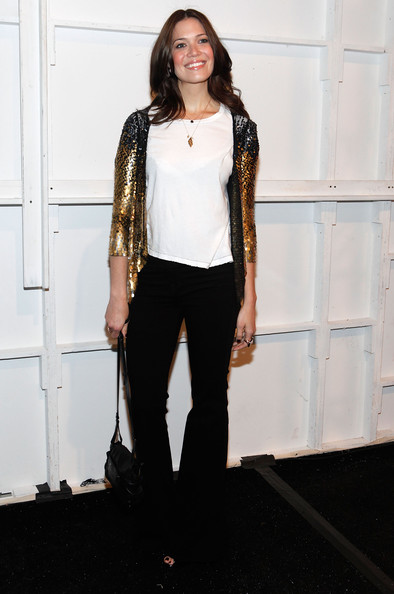 Mandy Moore Sequined Jacket