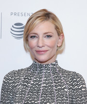 Cate Blanchett attended the Tribeca Film Fest premiere of 'Manifesto' wearing her hair in a summery bob.