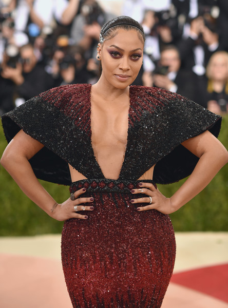More pics of la la anthony beaded dress 1 of 6 dresses skirts la la anthony attends the manus x machina fashion in an age of technology costume institute gala at metropolitan museum of art on may 2 2016 in new york freerunsca Images