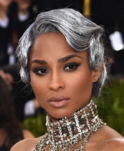 Ciara attended the Met Gala rocking silver hair styled into a bobby-pinned wavy updo.