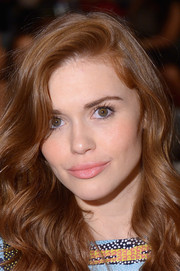 Holland Roden sweetened up her pout with a swipe of subtle pink lipstick when she attended the Mara Hoffman fashion show.