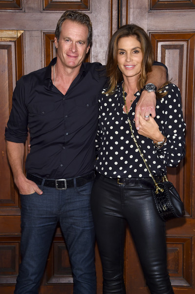 More Pics of Cindy Crawford Leather Pants (1 of 11) - Pants & Shorts Lookbook - StyleBistro [marc jacobs,arrivals,rande gerber,cindy crawford,jeans,textile,denim,iris,fun,event,leather,smile,trousers,fashion show,new york fashion week,new york city,park avenue armory]