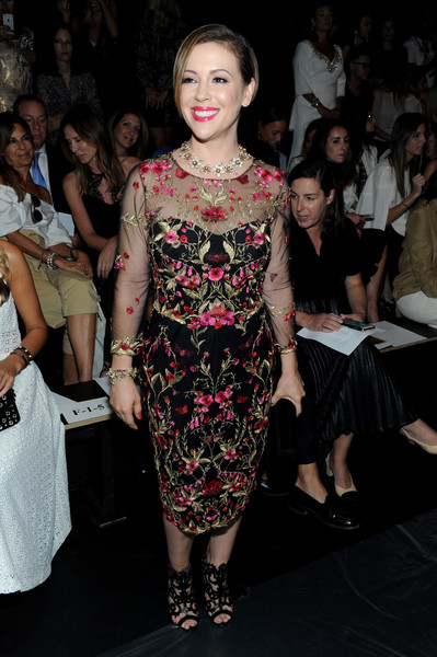 Alyssa Milano at Marchesa