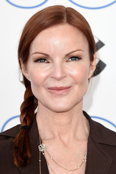 Marcia Cross Long Braided Hairstyle