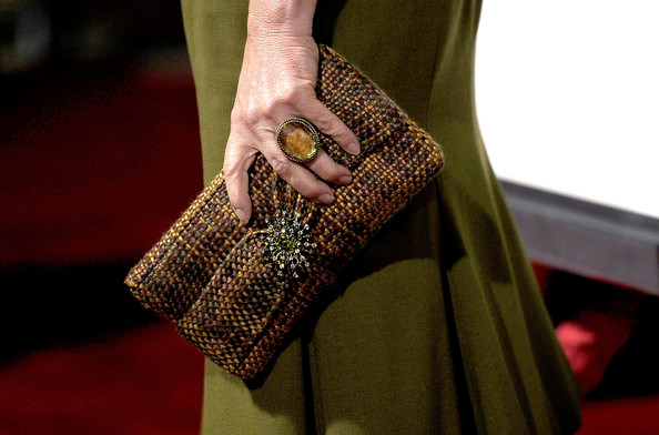 Marcia Gay Harden Beaded Clutch [the descendants,fashion,hand,nail,design,haute couture,dress,bag,pattern,street fashion,finger,marcia gay harden,arrivals,california,beverly hills,samuel goldwyn theater,fox searchlight,premiere of fox searchlight,ampas,premiere]