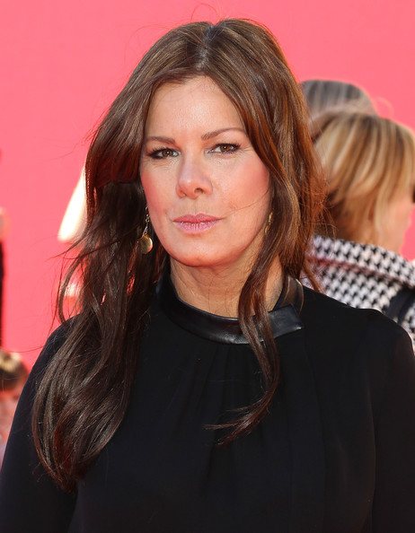 Marcia Gay Harden Long Wavy Cut [the lego movie,hair,face,hairstyle,brown hair,layered hair,beauty,long hair,chin,blond,lip,arrivals,marcia gay harden,california,regency village theatre,westwood,premiere,premiere]