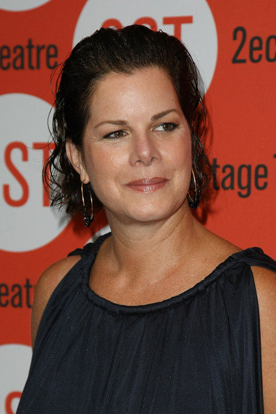 Marcia Gay Harden Short Curls [hair,hairstyle,chin,forehead,premiere,long hair,black hair,brown hair,smile,marcia gay harden,new york city,second stage theatre,trust,off-broadway,opening night - arrivals]