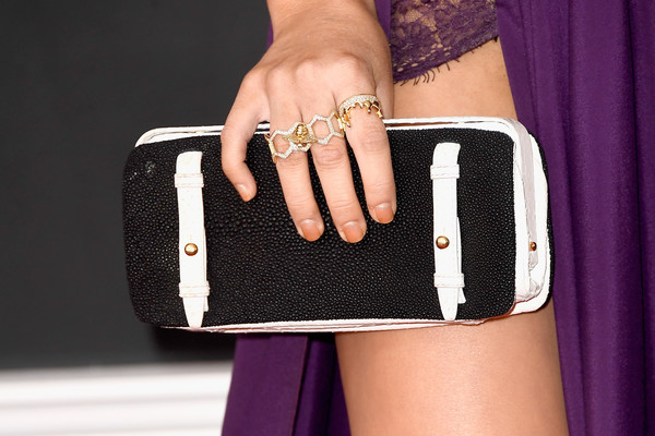 Maren Morris Statement Ring [pink,fashion,street fashion,finger,handbag,purple,bag,nail,leather,gadget,arrivals,maren morris,fahsion detail,staples center,los angeles,california,grammy awards]