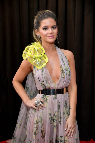 Maren Morris Statement Ring [red carpet,clothing,yellow,fashion,beauty,blond,dress,model,fashion design,event,long hair,maren morris,staples center,los angeles,california,grammy awards,annual grammy awards]