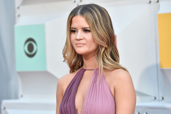 Maren Morris Long Wavy Cut [hair,face,hairstyle,blond,shoulder,beauty,skin,eyebrow,hair coloring,chin,arrivals,maren morris,las vegas,nevada,mgm grand garden arena,academy of country music awards]