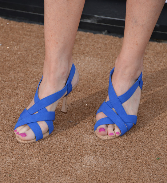 Marg Helgenberger Strappy Sandals