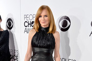 Marg Helgenberger Leather Dress