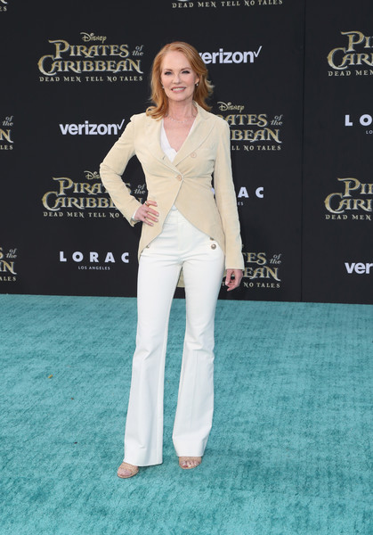 Marg Helgenberger Wide Leg Pants
