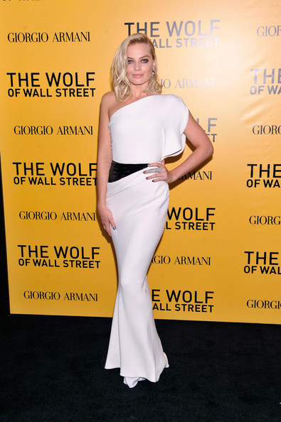 Margot Robbie One Shoulder Dress