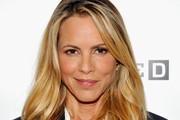 Maria Bello Long Wavy Cut