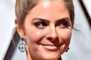 Maria Menounos Dangling Gemstone Earrings