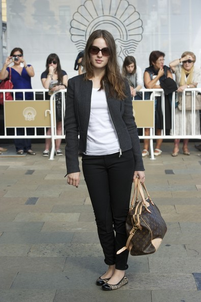 Maria Valverde Leather Bowler Bag