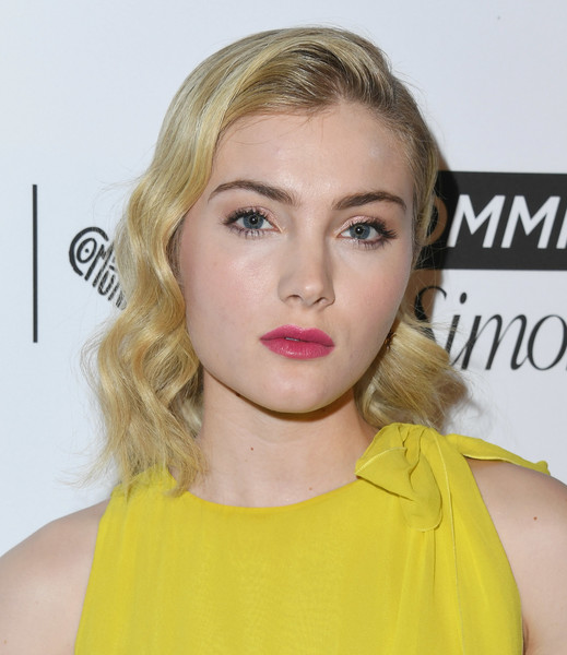 More Pics of Skyler Samuels Pumps (3 of 5) - Skyler Samuels Lookbook - StyleBistro [marie claires 5th annual fresh faces,skyler samuels,poppy,hair,face,blond,lip,hairstyle,eyebrow,shoulder,chin,yellow,beauty,california,los angeles,arrivals]