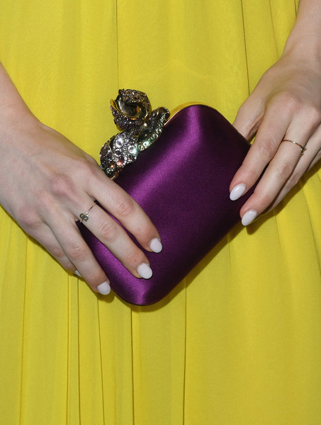 More Pics of Skyler Samuels Pumps (5 of 5) - Skyler Samuels Lookbook - StyleBistro [marie claires 5th annual fresh faces,skyler samuels,poppy,purple,violet,nail,yellow,finger,hand,magenta,wallet,material property,fashion accessory,california,los angeles,arrivals]
