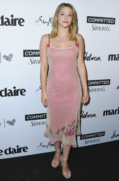 More Pics of Lili Reinhart Cocktail Dress (1 of 15) - Lili Reinhart Lookbook - StyleBistro