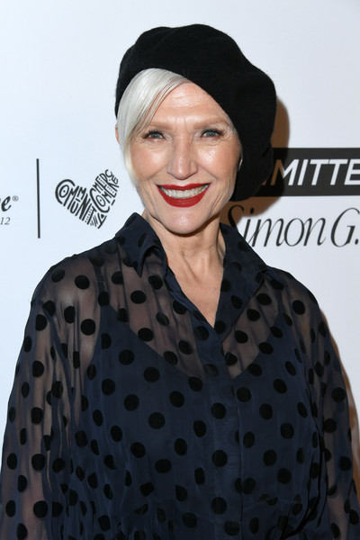 More Pics of Maye Musk Beret (4 of 4) - Casual Hats Lookbook - StyleBistro [hair,clothing,polka dot,lip,hairstyle,pattern,turban,headgear,design,neck,arrivals,marie claires 5th annual fresh faces,marie claire,maye musk,poppy,fresh faces,california,los angeles]