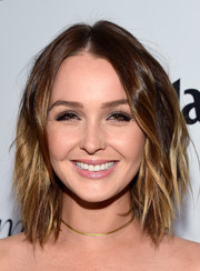Camilla Luddington sported a cool layered razor cut at the Marie Claire Fresh Faces party.
