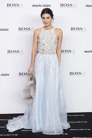 Alessandra de Osma attended the 2016 Marie Claire Prix de la Moda wearing a pale blue gown with an embroidered bodice.