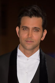 Hrithik Roshan wore his hair in a sleek pompadour.