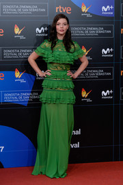 Anya Taylor-Joy went the ultra feminine route in a ruffled green gown by Elie Saab at the San Sebastian Film Festival premiere of 'Marrowbone.'