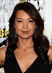 Ming-Na Wen's soft waves showed off her black and brown tresses beautifully.
