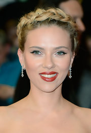 Scarlett Johansson wore her hair in a sweet Heidi braid while attending the European premiere of 'The Avengers.'
