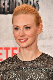 Deborah Ann Woll swept her hair back into a loose bun for the New York premiere of 'The Defenders.'