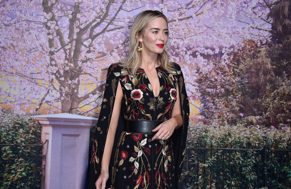 More Pics of Emily Blunt Embroidered Dress (1 of 19) - Dresses & Skirts Lookbook - StyleBistro