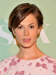 Elettra Wiedemann opted for a breezy short 'do when she attended the premiere of 'Masters of Sex.'