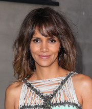 Halle Berry rocked tousled waves with wispy bangs at the Kaleidoscope Ball.