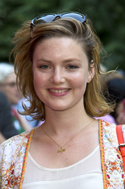 Holliday Grainger looked cute with her windswept 'do at the 'Car Man' gala performance.