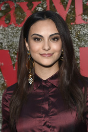 Camila Mendes wore her long hair down with a center part at the InStyle Max Mara Women in Film celebration.