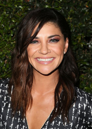 Jessica Szohr attended the Max Mara Face of the Future event wearing her hair in edgy-chic waves.