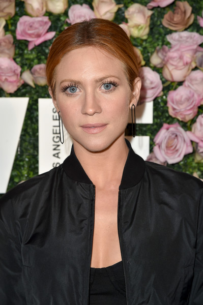 More Pics of Brittany Snow Zip-up Jacket (1 of 2) - Tops Lookbook - StyleBistro [max mara celebrates zoey deutch,the 2017 women in film max mara face of the future,brittany snow,hair,hairstyle,beauty,eyebrow,blond,lip,forehead,eye,brown hair,long hair,chateau marmont,california,los angeles,max mara]